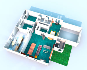 House Layout Rendering